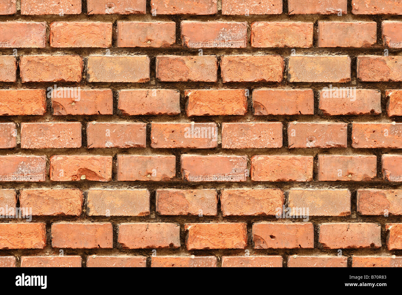 Seamlessly repeat old brick wall (repeatable both horizontally and vertically with no visible edges) - Stock Image