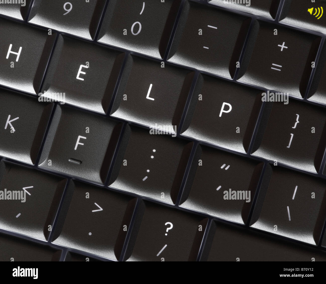 COMPUTER TECHNOLOGY: Help - Stock Image