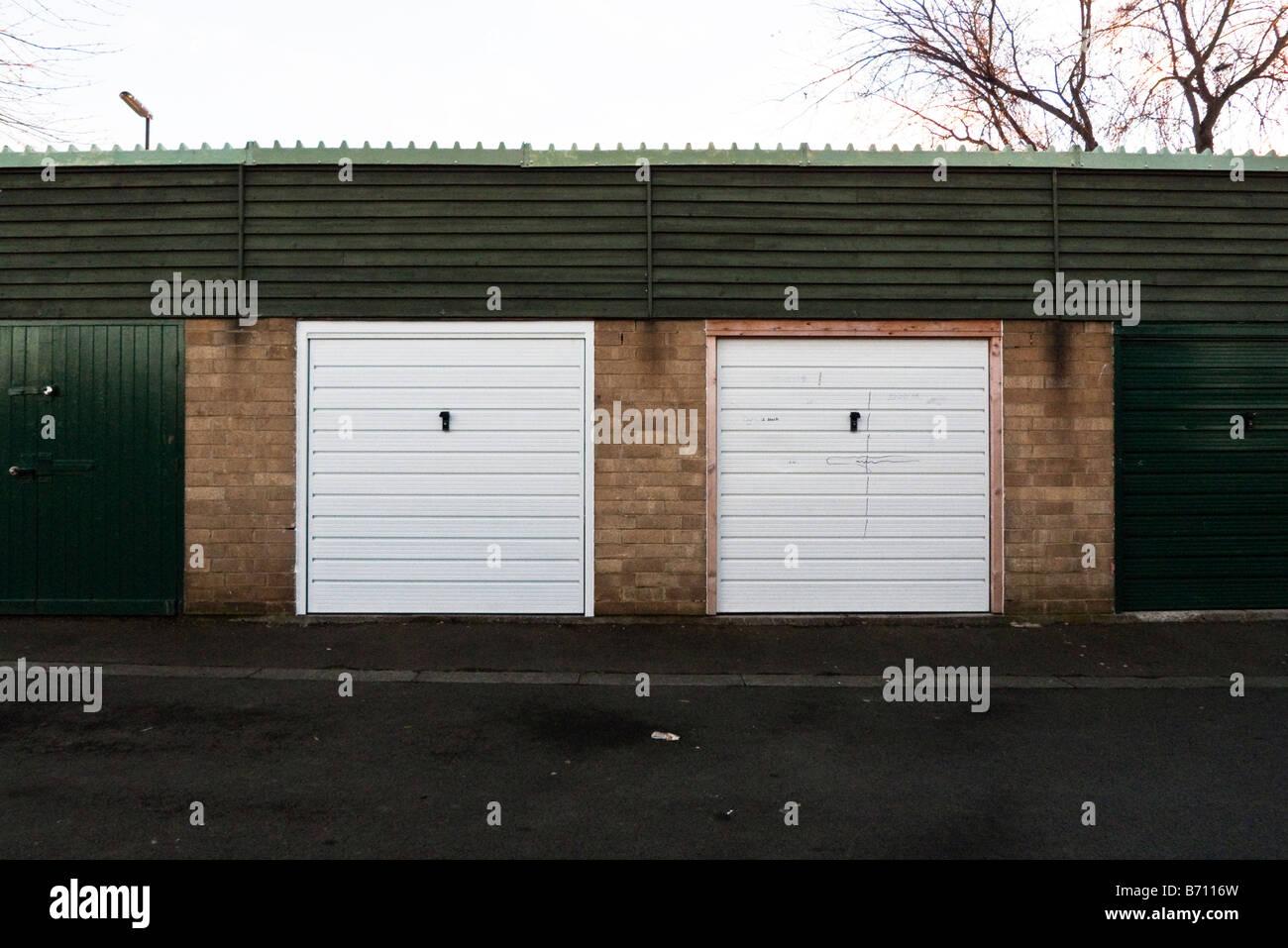 Two Garage Doors In Newcastle Upon Tyne Stock Photo 21535889 Alamy