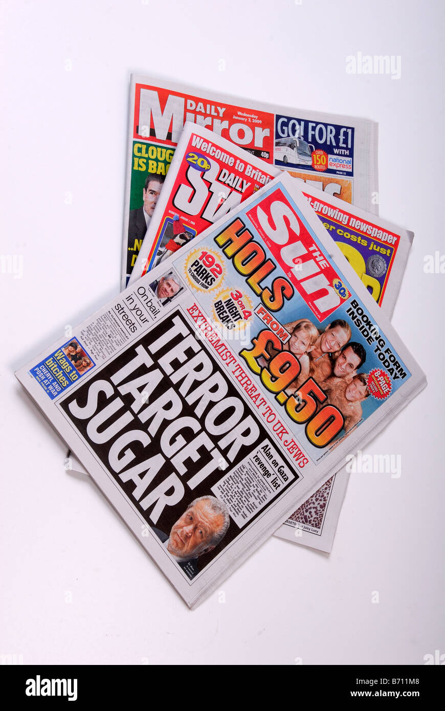 Daily Newspaper's . Stock Photo