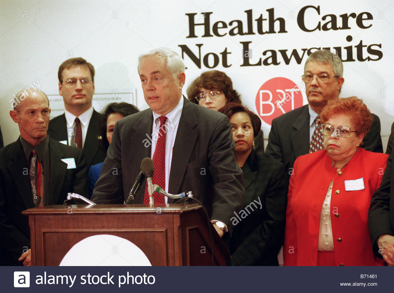3 7 00 NORWOOD DINGELL MANAGED CARE BILL Robert Burt Chairman of The Business Roundtable and CEO of FMC Corporation - Stock Image