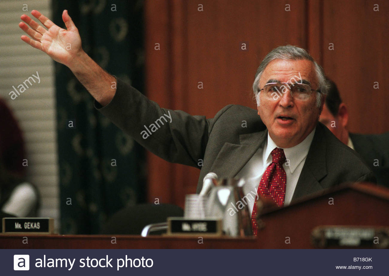2 14 01 BANKRUPTCY George W Gekas R Pa during the House Judiciary markup of HR 333 CONGRESSIONAL QUARTERLY PHOTO - Stock Image