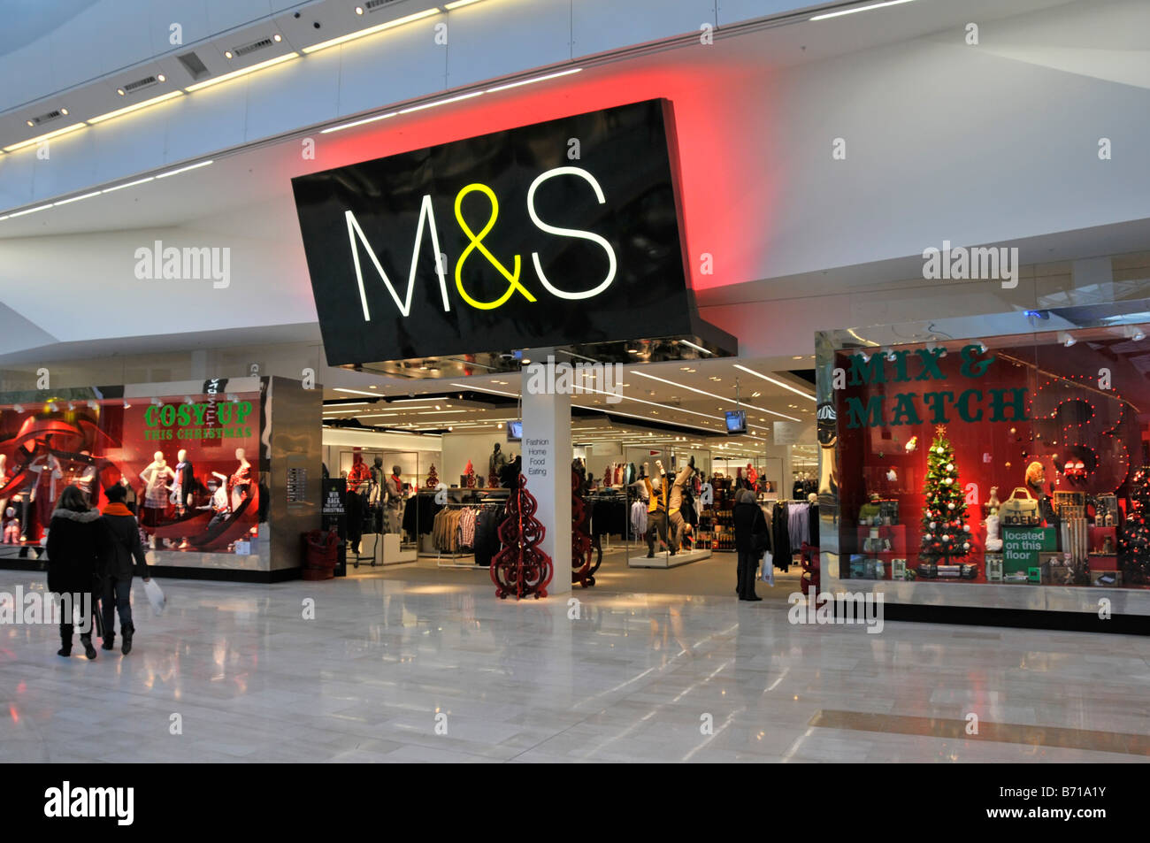 Marks and Spencer store in the Westfield shopping centre Shepherds Bush London - Stock Image