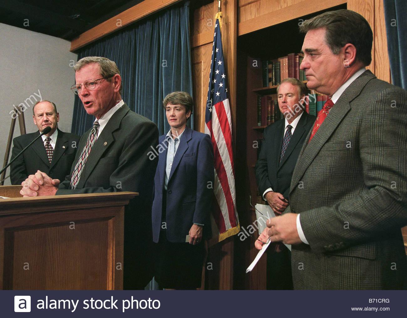 11 28 01 ENERGY BILL House Resources Chairman James V Hansen R Utah Senate  Environment And Public Works Member Sen James M Inhofe R Okla Speaking  Heather A ...