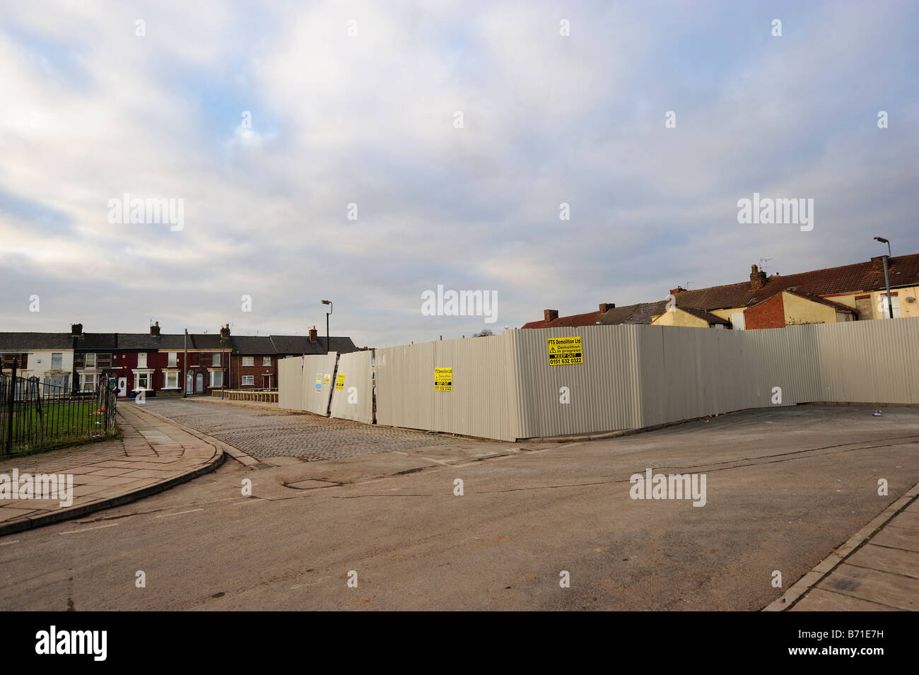 Hawthorne Grove in Edge Hill district of Liverpool after being compulsory purchased and demolished.  See  image - Stock Image