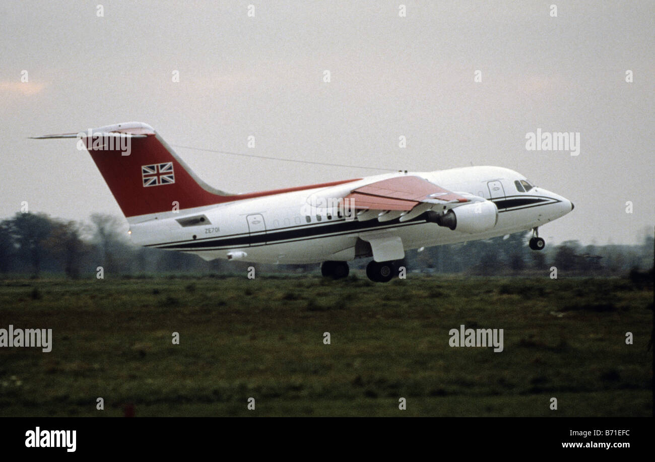BAe 146 of No. 32 Squadron The Queen's Flight at Beijing Airport, China - Stock Image
