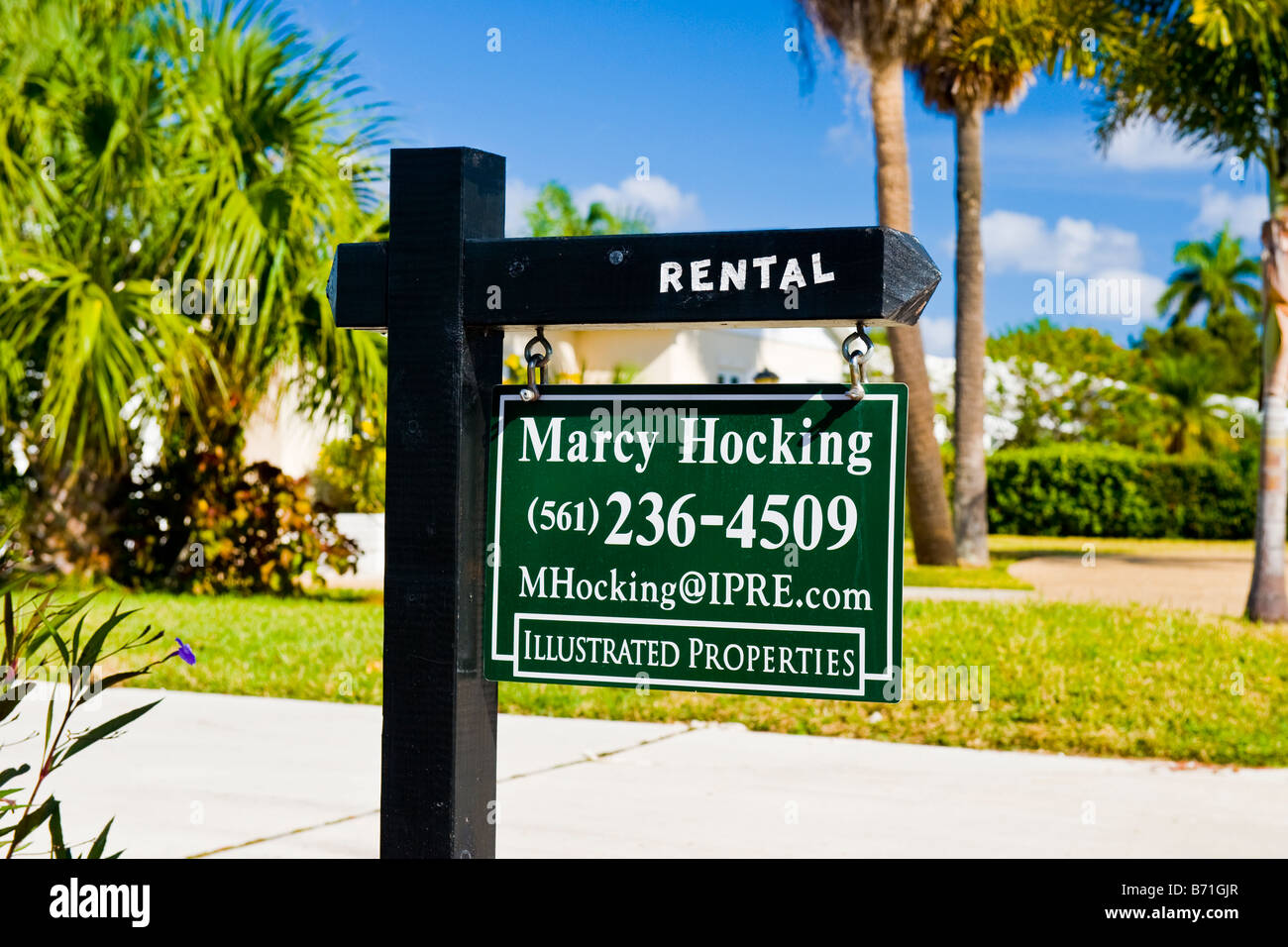 Palm Beach Shores Interesting Signs Road Sign For House Rental Recession