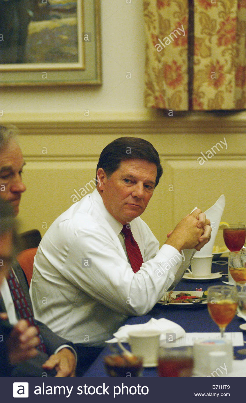 5 2 02 HOUSE MAJORITY WHIP TOM DELAY House Majority Whip Tom DeLay R Texas during a luncheon of the Texas delegation - Stock Image