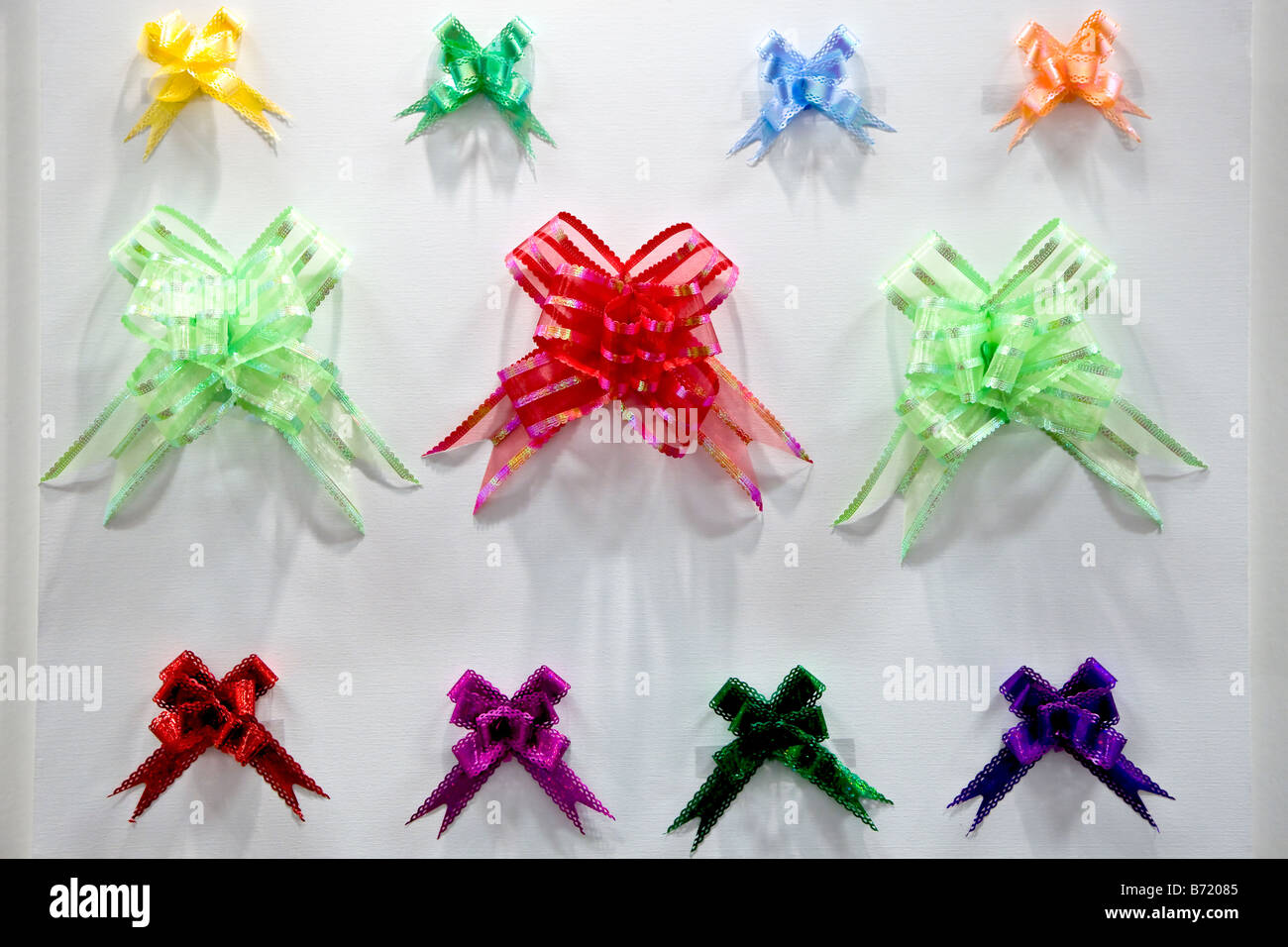 Colourful bows - Stock Image