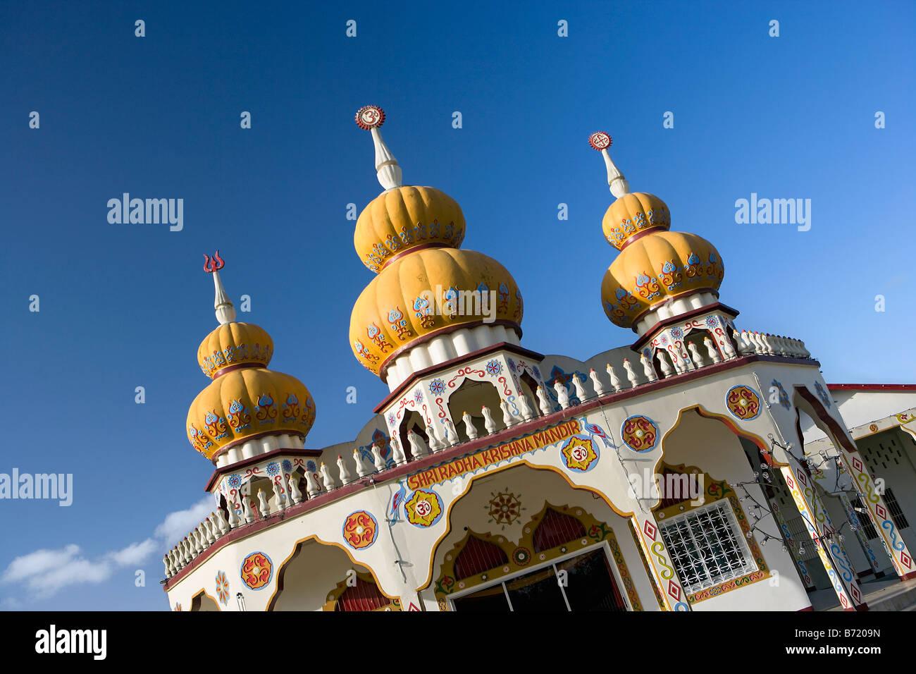 Suriname, Paramaribo, Hindu temple or mandir. - Stock Image