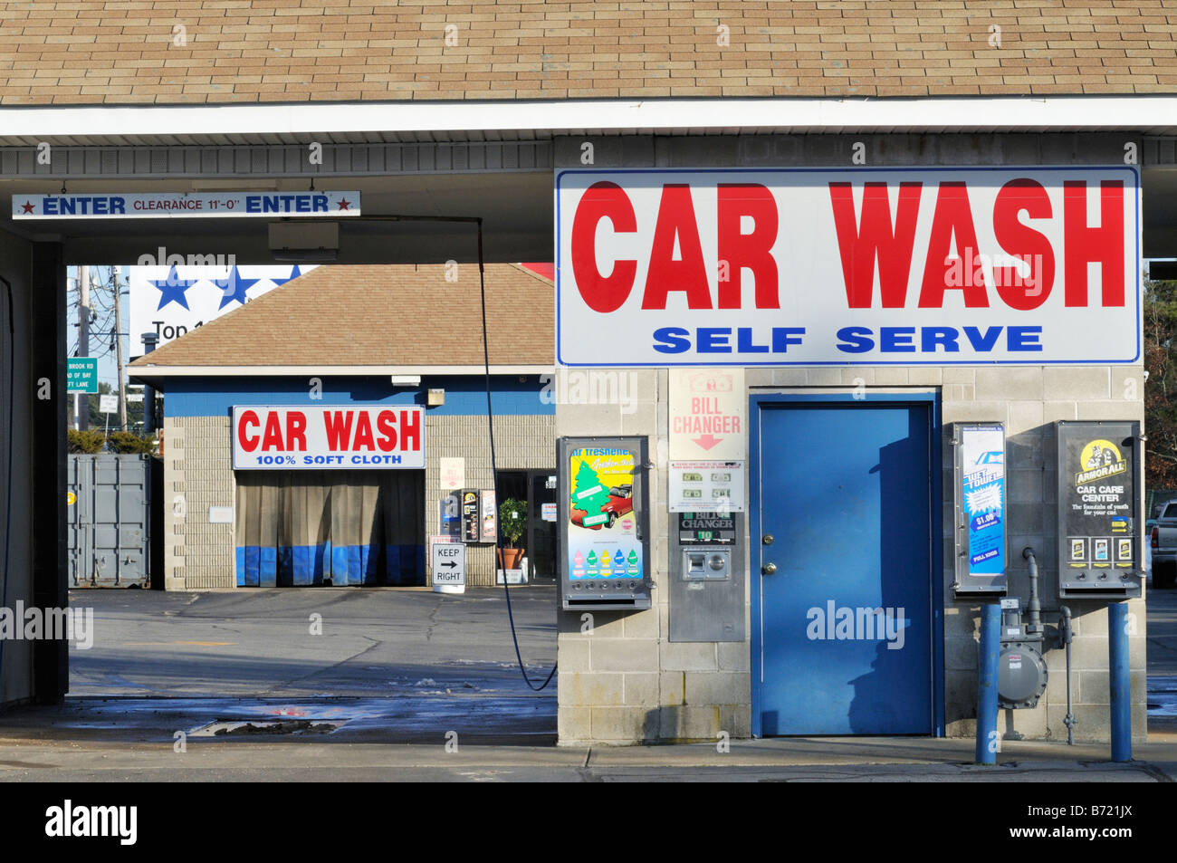 Car wash signs stock photos car wash signs stock images alamy car wash and self serve with signs and nobody stock image solutioingenieria Images