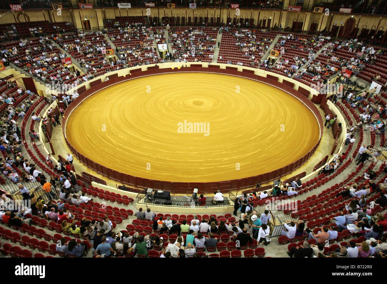 Campo Pequeno bullring, Lisbon, Portugal. - Stock Image
