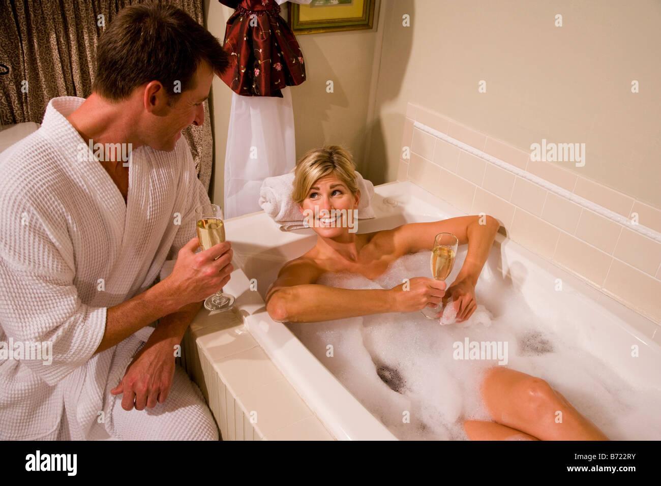 A Man Sitting In A Bath Tub Stock Photos U0026 A Man Sitting In ...