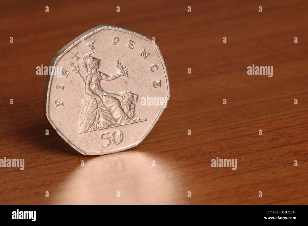 50 pence coin - Stock Image
