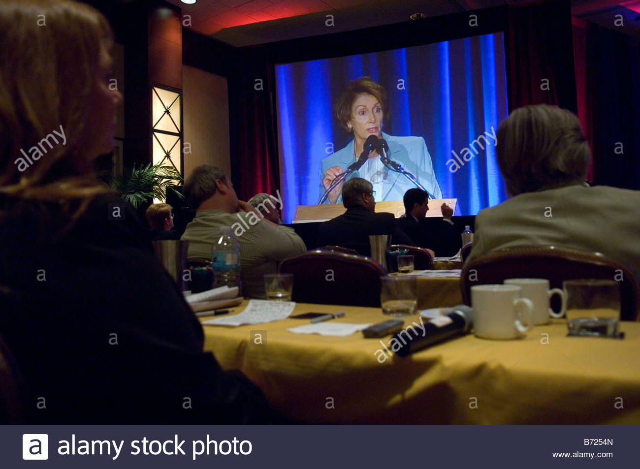 WASHINGTON DC Oct 04 House Speaker Nancy Pelosi D Calif speaks at the Associated Press Managing Editors Annual Conference - Stock Image