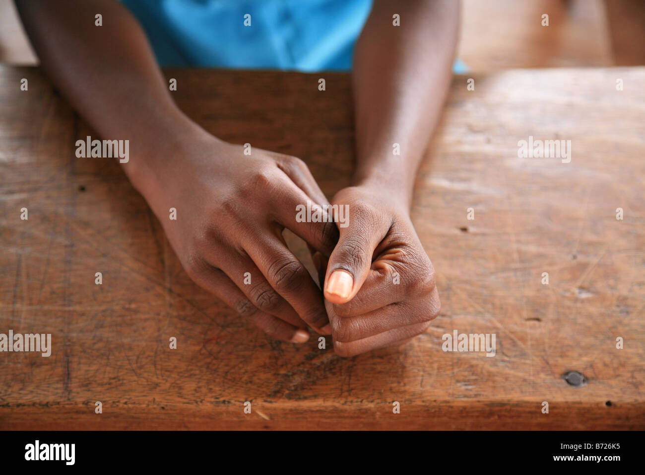 Hands Of A Young Girl At The Islamic School In Sunyani Ghana Praying Mosque