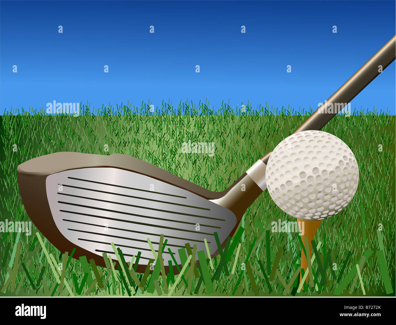 Golf - Vector Illustration - Stock Image