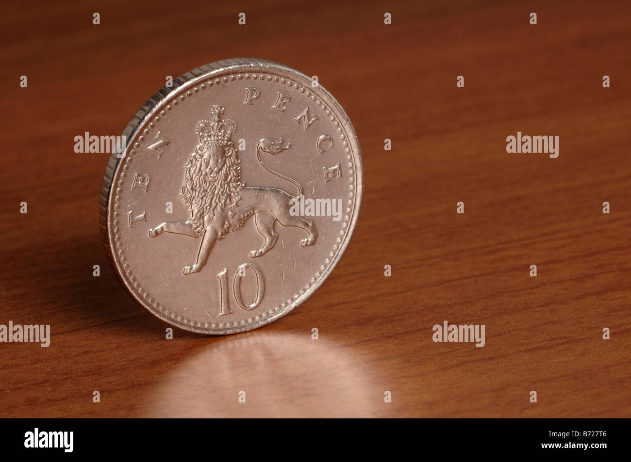 10 pence coin - Stock Image