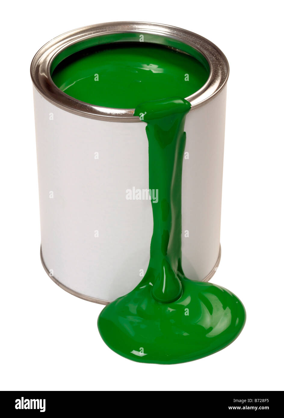 Green paint - Stock Image