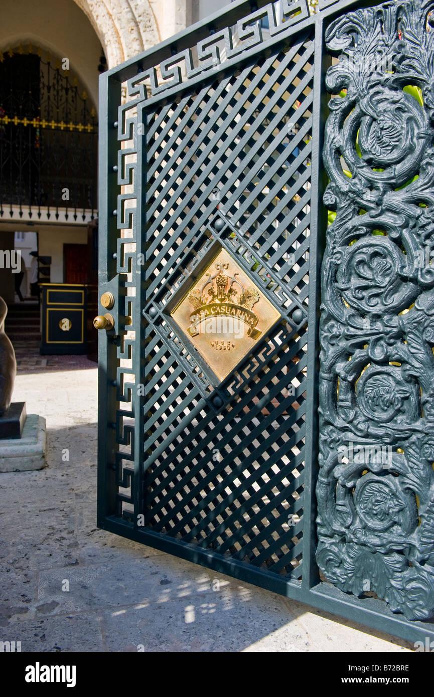 Miami South Beach Ocean Drive  heavy wrought iron front gate entrance to House of Gianni & Gianni Versace Miami Stock Photos \u0026 Gianni Versace Miami Stock ...