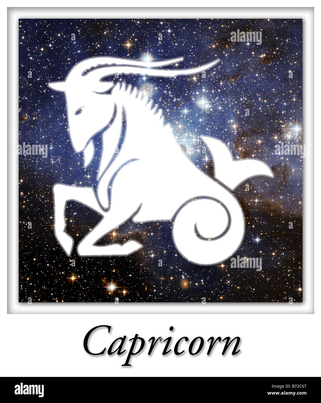 Capricorn Astrological Astrology Horoscope Birth Sign - Stock Image