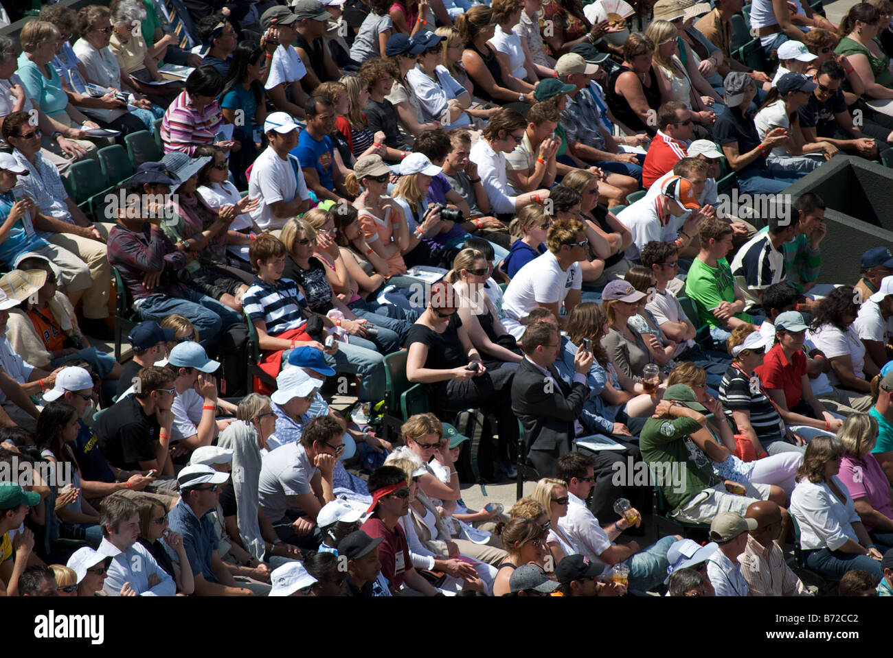 The crowd at Court number 1, Wimbledon 2008 - Stock Image