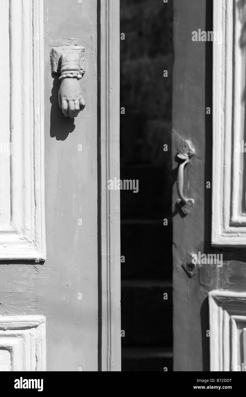 Open old fashioned wooden door - Stock Image & Unsecured Door Stock Photos u0026 Unsecured Door Stock Images - Alamy