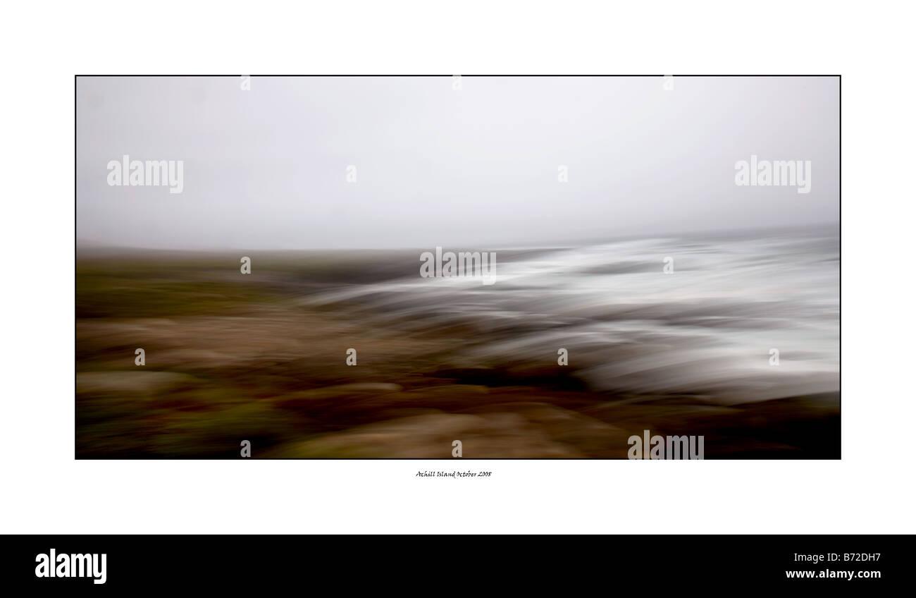 abstract seascape Achill island Ireland nature - Stock Image