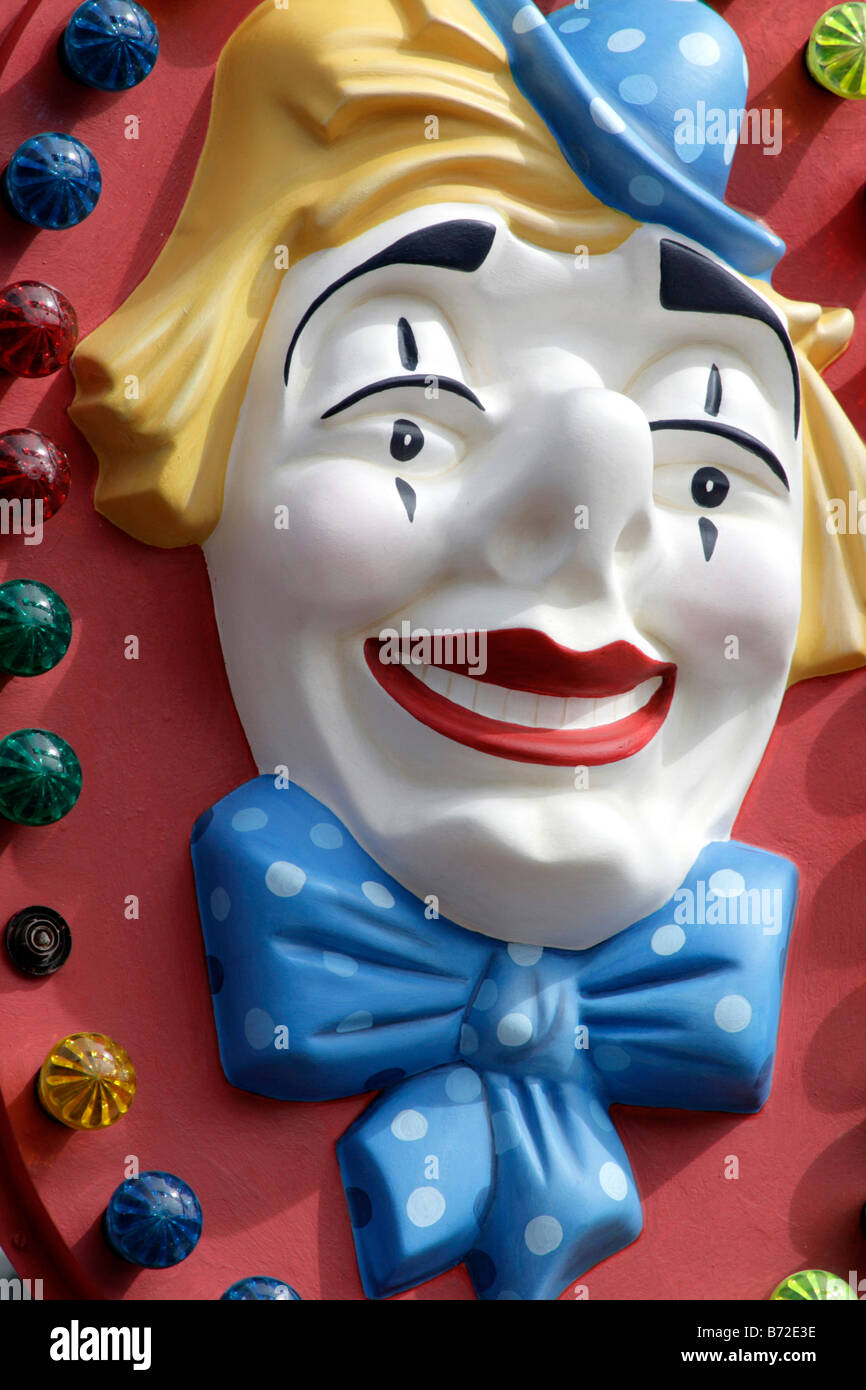 Carnival puppet clown - Stock Image