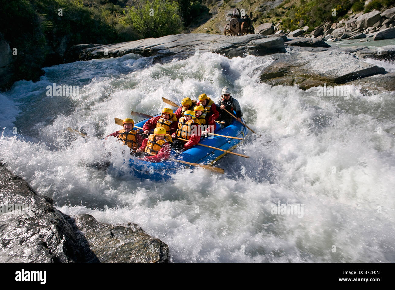 new zealand south island queenstown white water rafting. Black Bedroom Furniture Sets. Home Design Ideas
