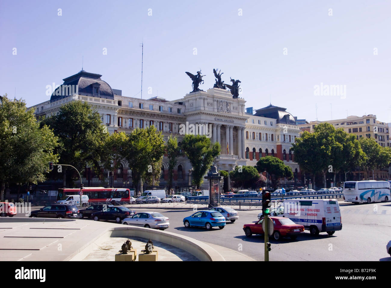 Ministerio de Agricultura exterior frontage in Madrid Stock Photo