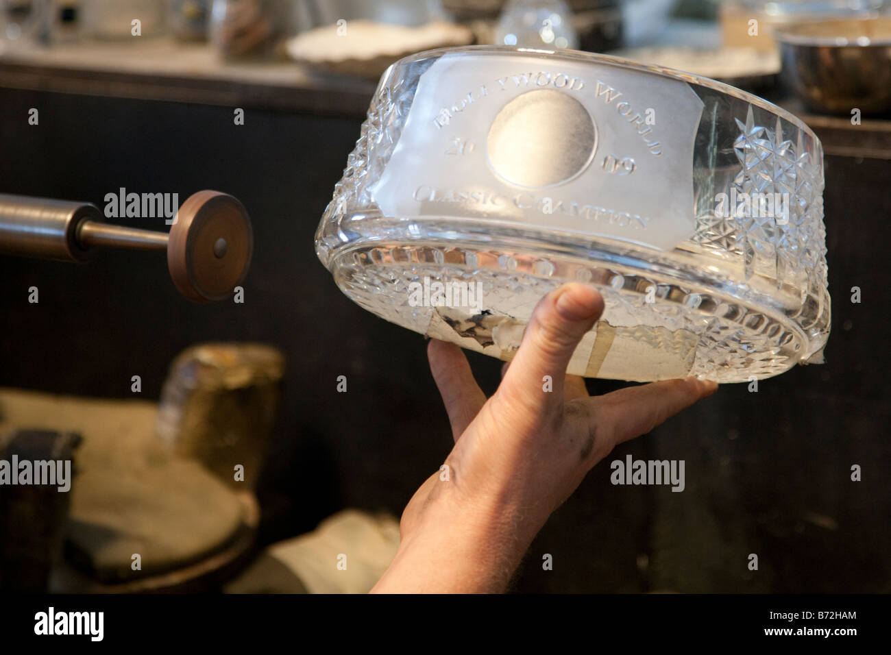 Waterford Crystal, Glass Making factory, Ireland - Stock Image