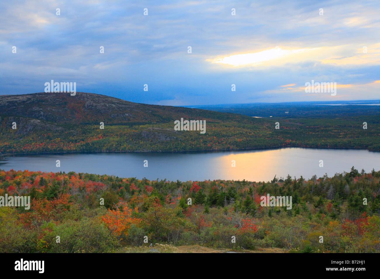 Sunset over Eagle Lake, Cadillac Mountain Trail, Cadillac Mountain