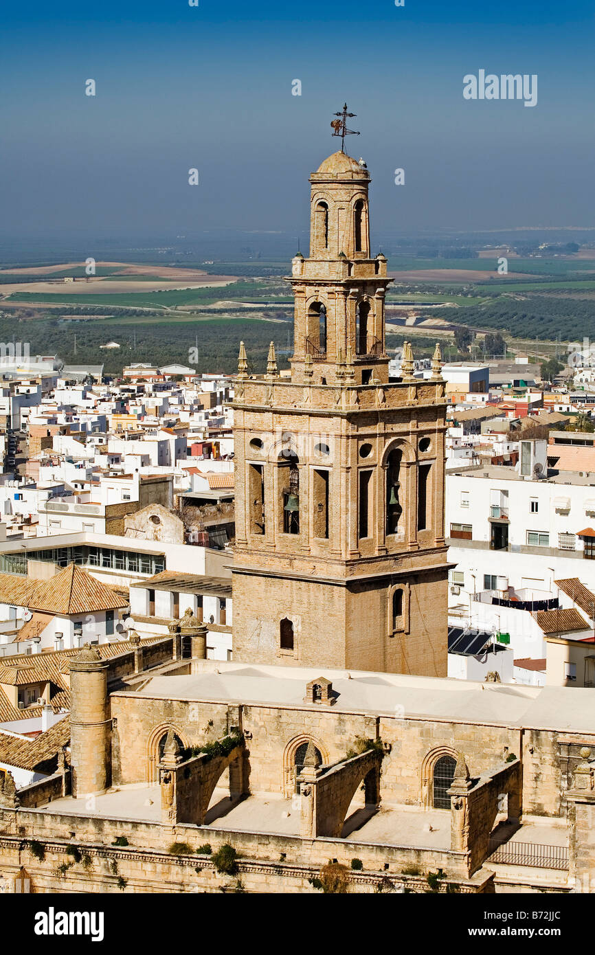 Church Of San Miguel And A View Of Moron De La Frontera Sevilla Stock Photo Alamy