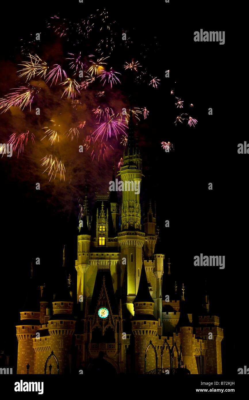The Wishes fireworks show at Disney s Magic Kingdom Stock
