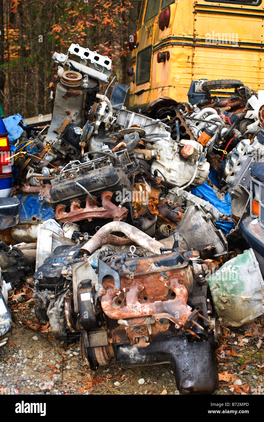automobile junkyard with parts of cars for sale Stock Photo ...