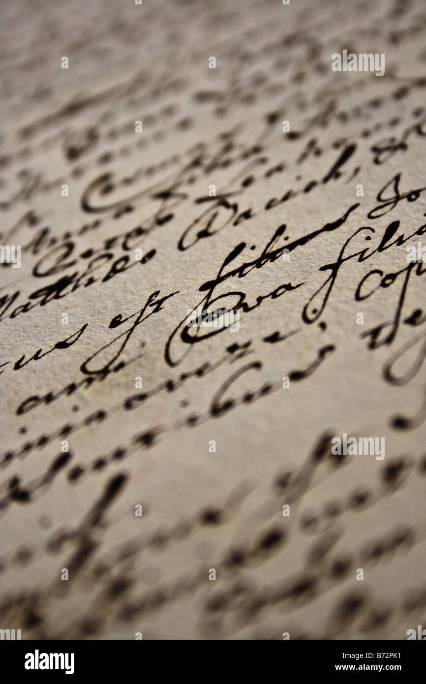old writing - Stock Image