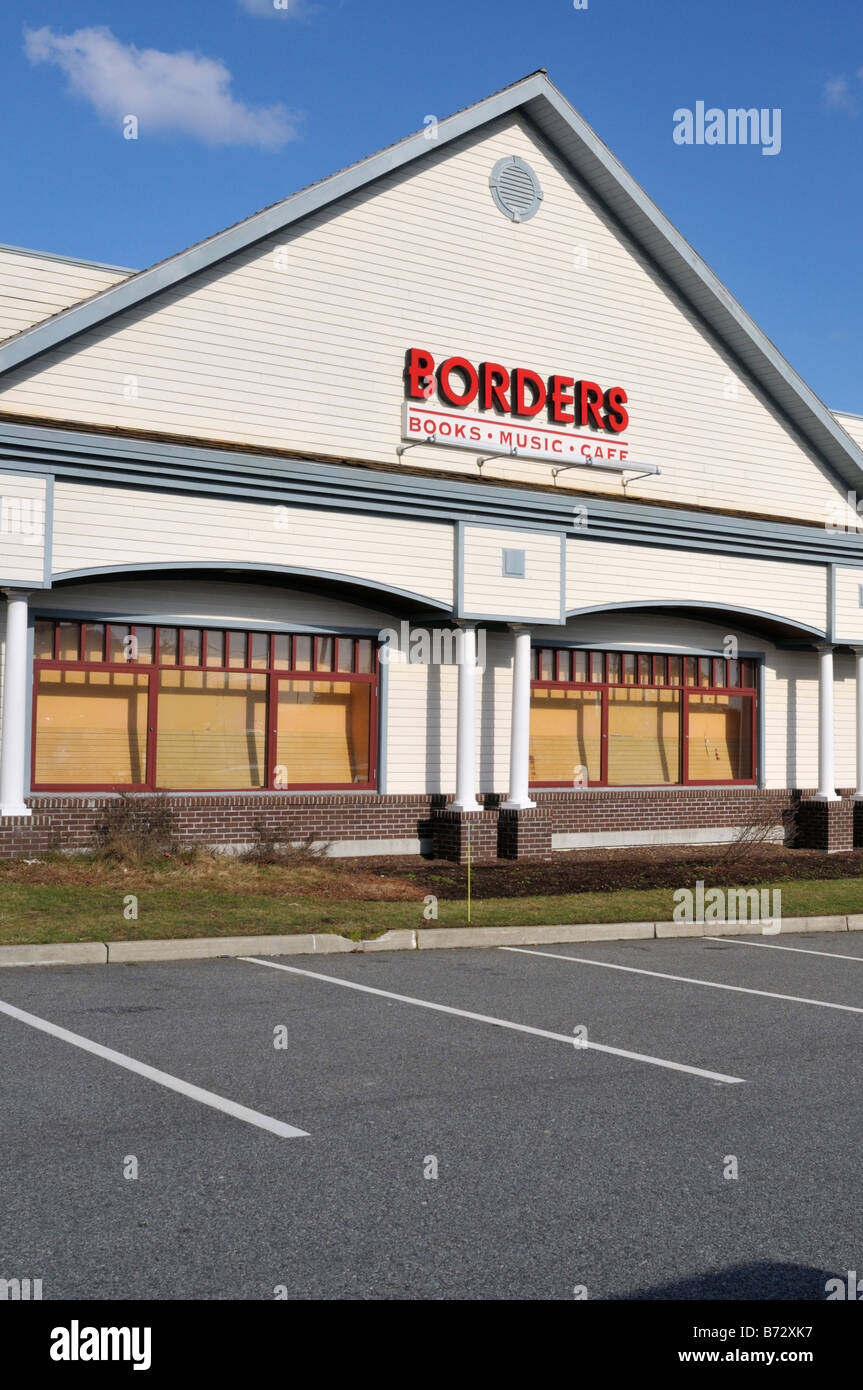 Exterior of Borders Bookstore in United States - Stock Image