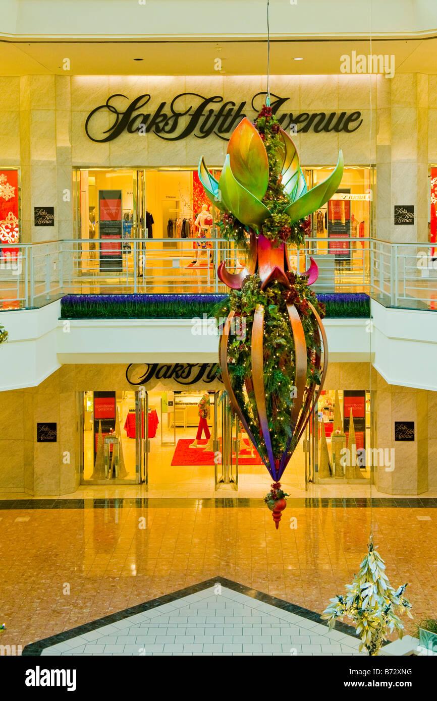 Florida West Palm Beach Gardens Shopping Mall Or Center Xmas Stock