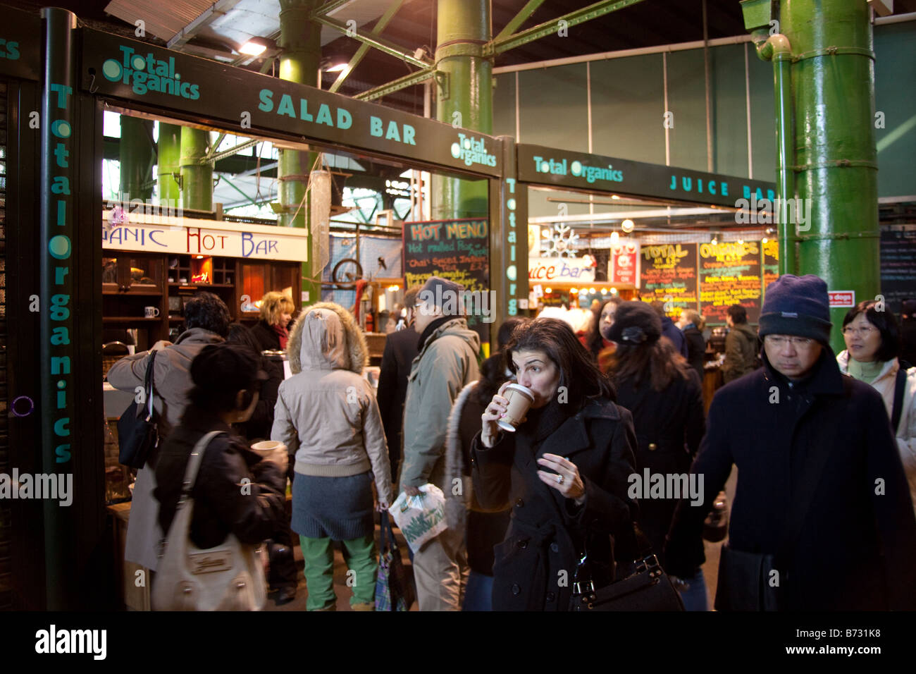 Borough market London England. - Stock Image