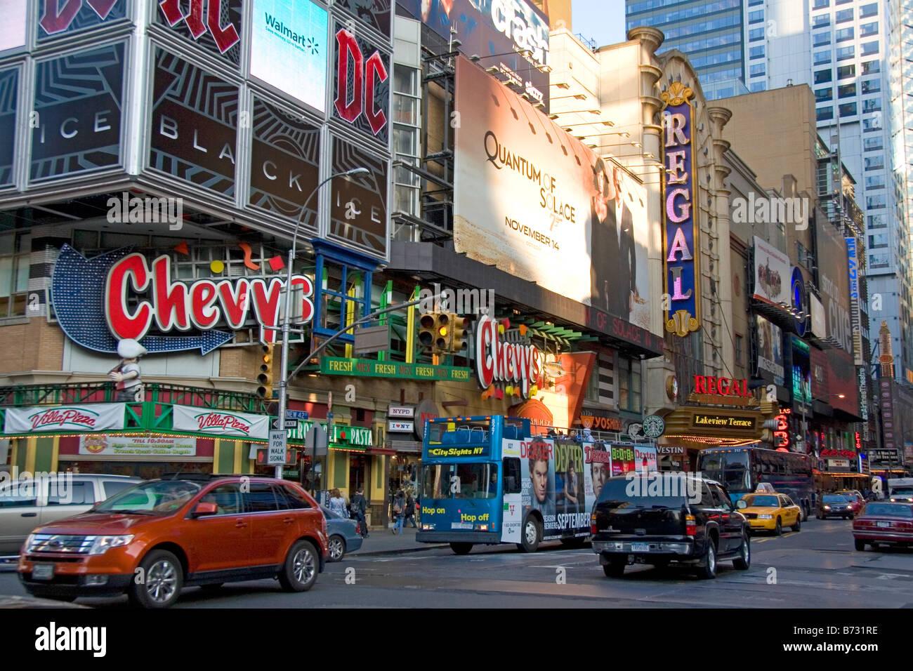 Theatre District On West 42nd Street In Manhattan New York