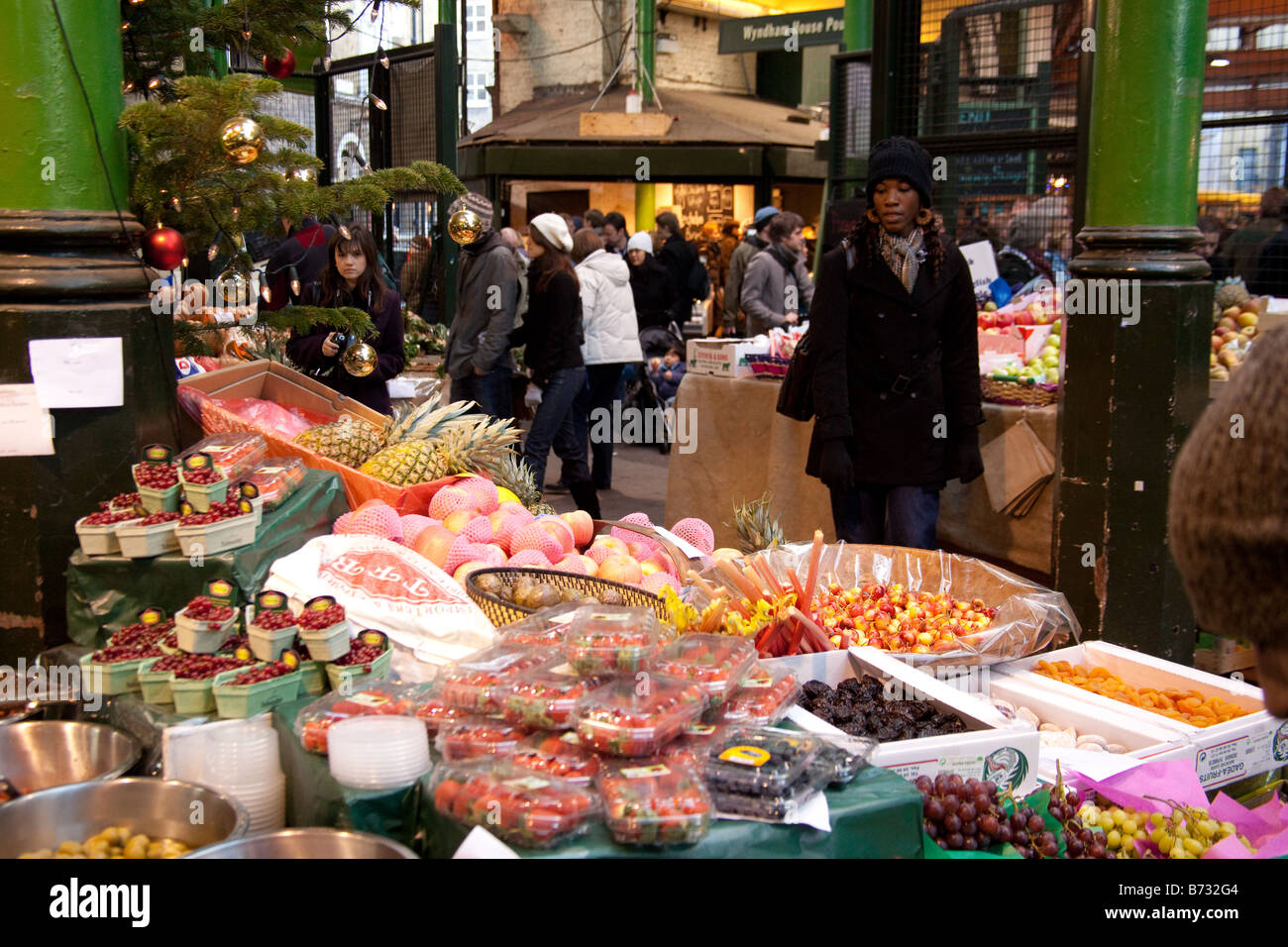 Vegetable stall at Borough market London England. - Stock Image