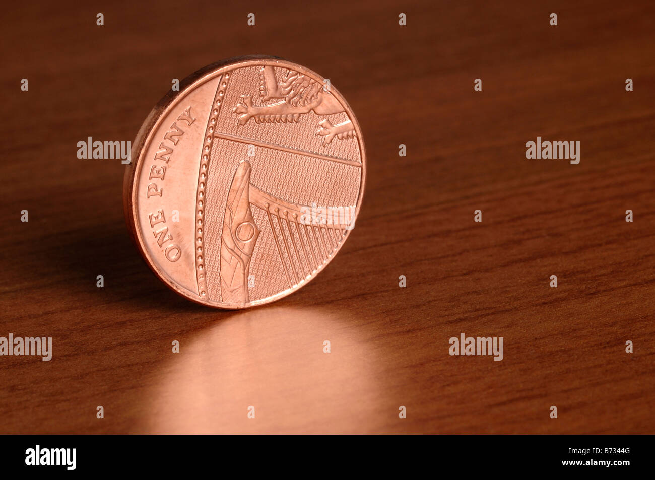 1 pence coin - Stock Image