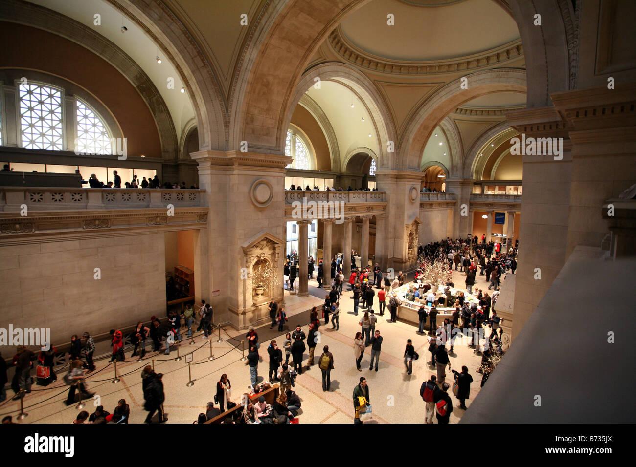 Great Hall, Metropolitan Museum of Art Stock Photo