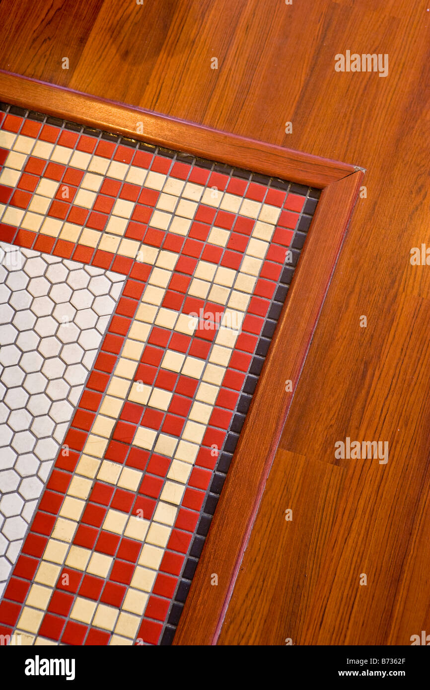 Tile Floor Detail Slys Restaurant Carpinteria California United