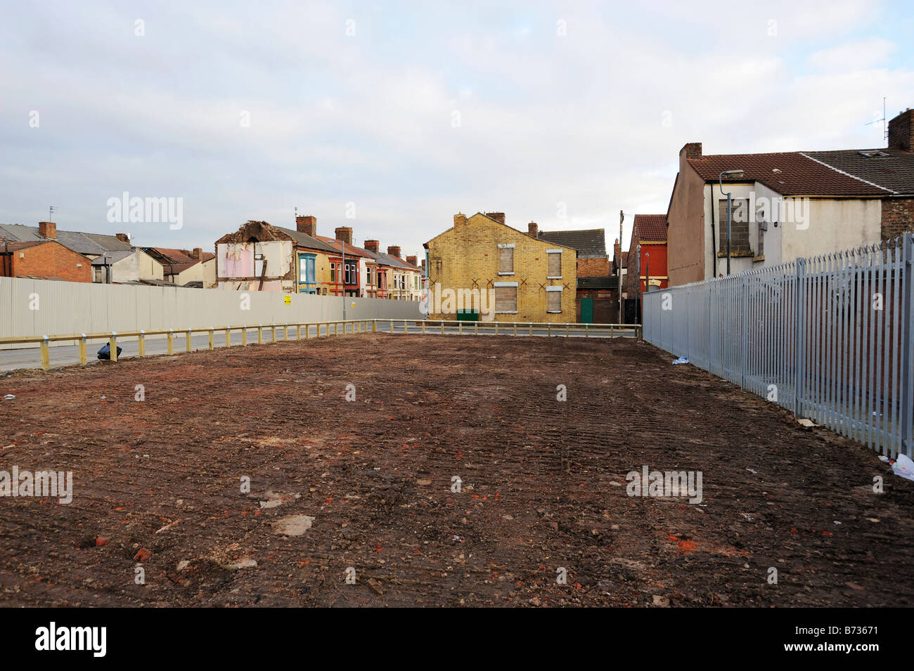 Plimsol Street in Edge Hill district of Liverpool after being compulsory purchased and partially demolished. - Stock Image