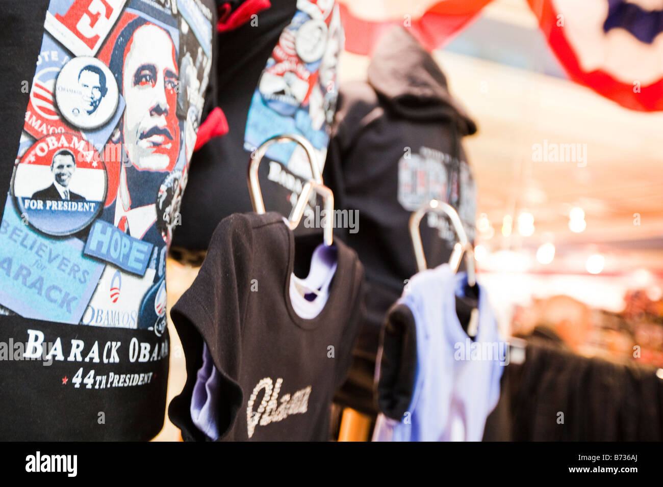 Barack Obama tee shirt in a store - Stock Image