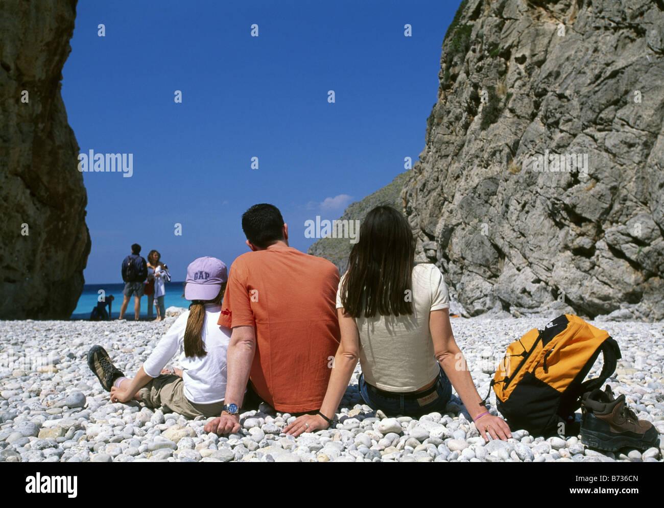 Sa Calobra Majorca Balearic islands Spain - Stock Image