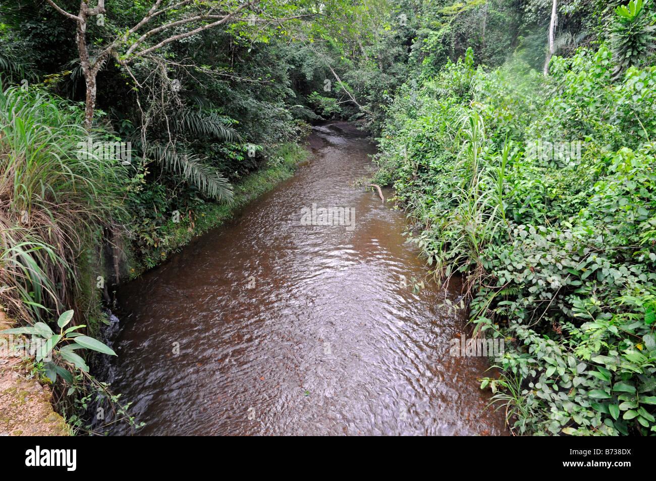 Yeti River near Yekepa Liberia - Stock Image