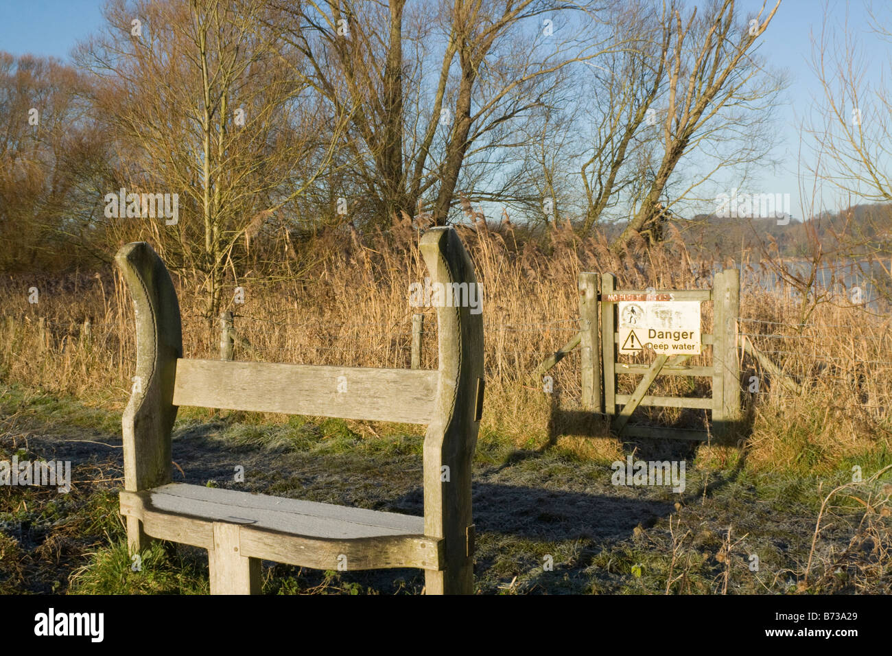 gate and bench - Stock Image